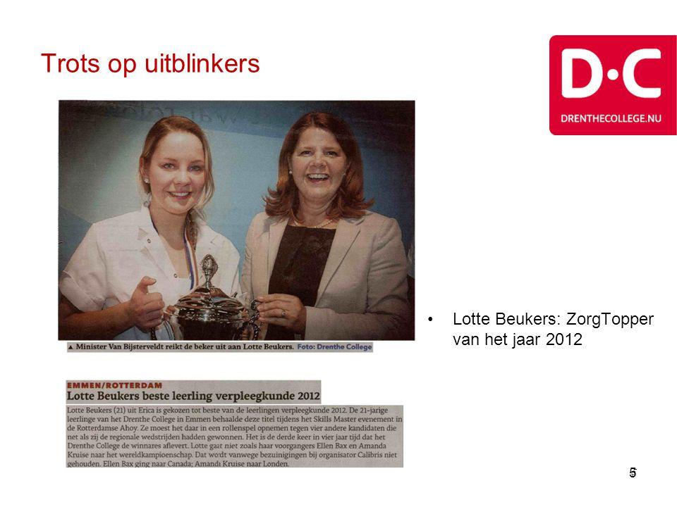 Trots op uitblinkers Lotte Beukers: ZorgTopper van het jaar 2012 5 5 5