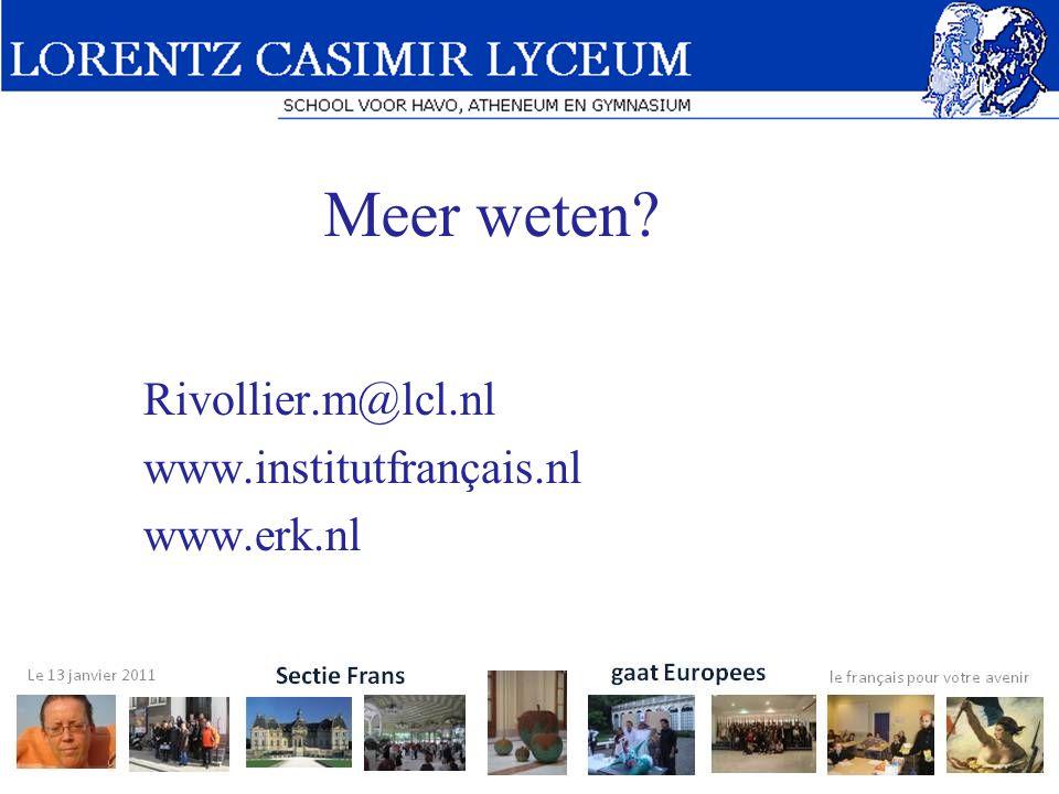 Rivollier.m@lcl.nl www.institutfrançais.nl www.erk.nl