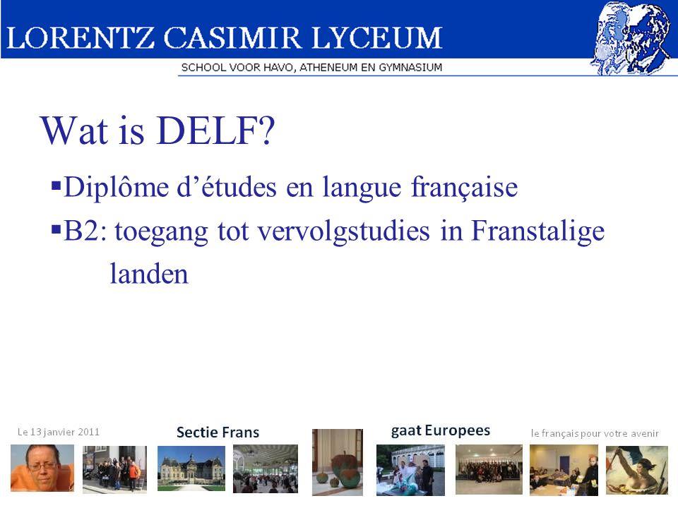 Wat is DELF Diplôme d'études en langue française