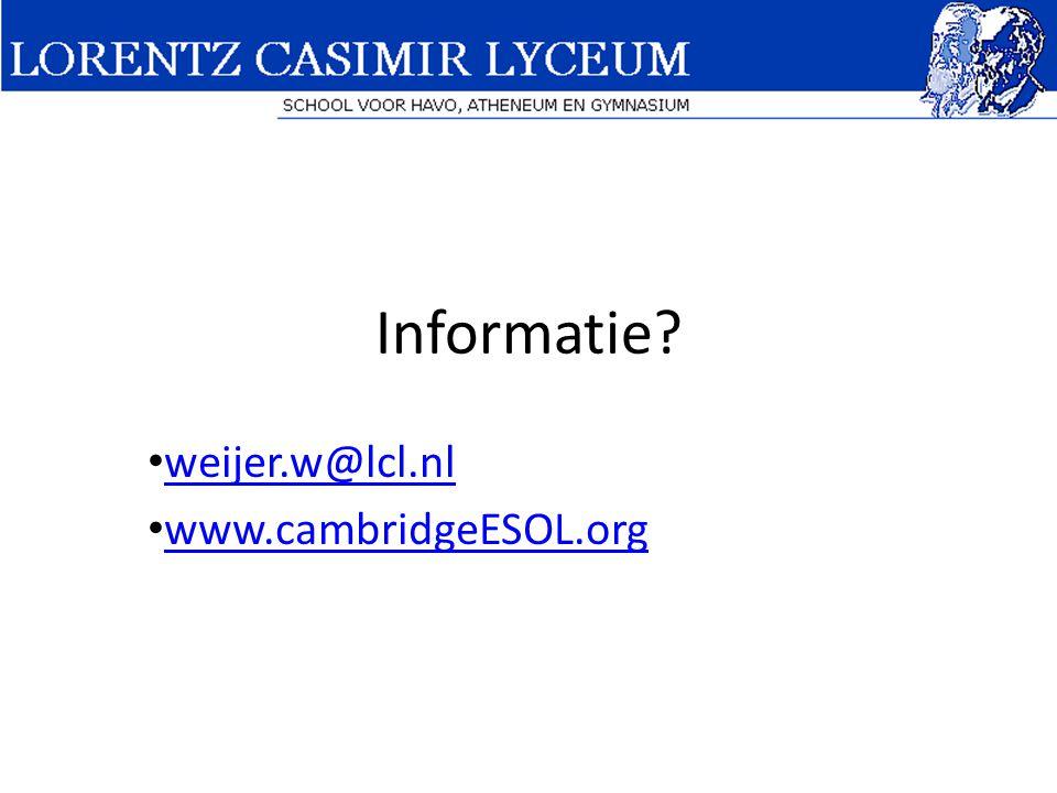 weijer.w@lcl.nl www.cambridgeESOL.org