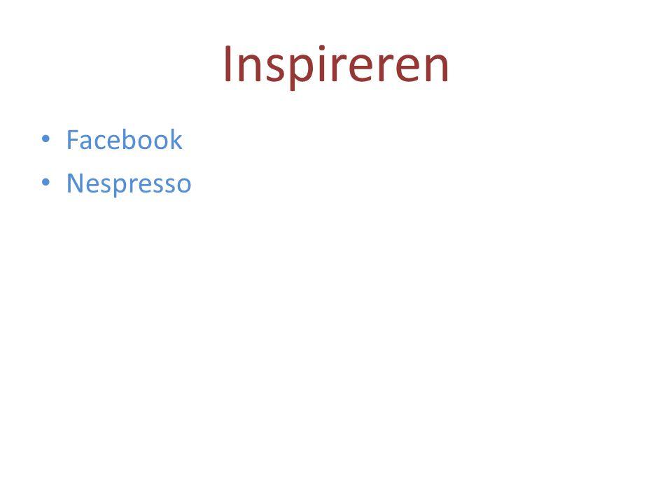 Inspireren Facebook Nespresso