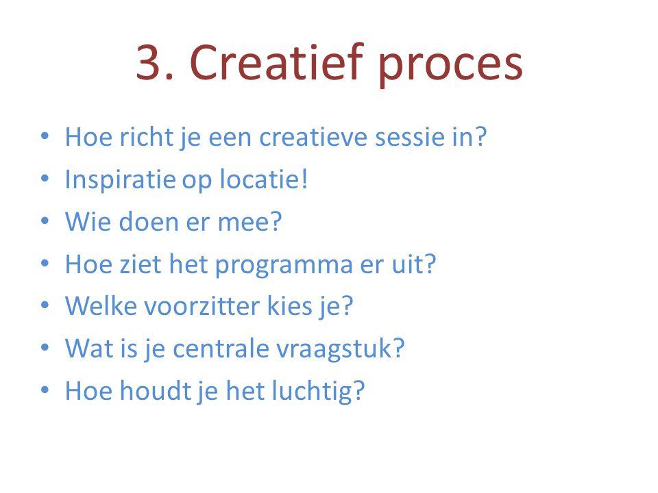 3. Creatief proces Hoe richt je een creatieve sessie in