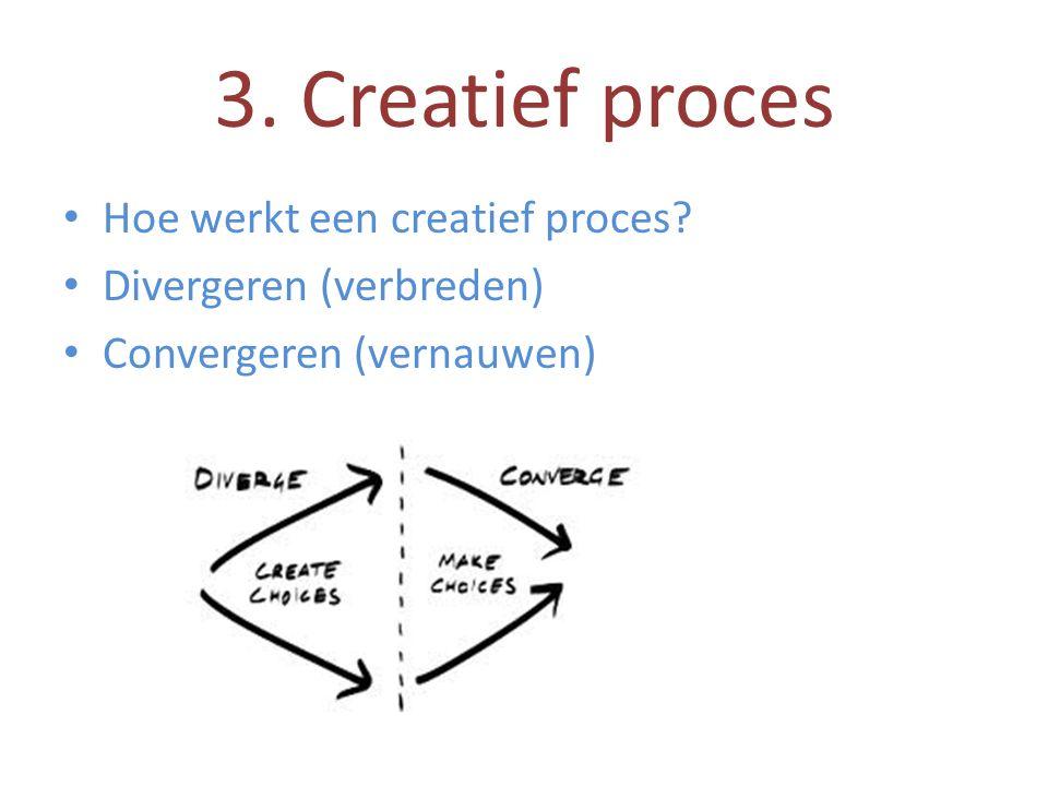 3. Creatief proces Hoe werkt een creatief proces