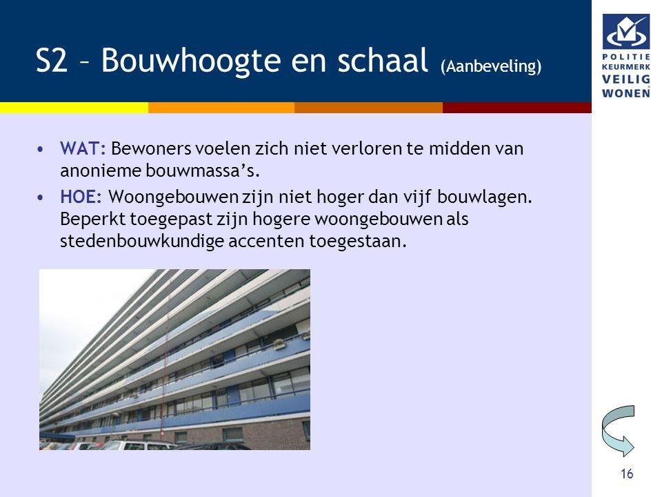 S2 – Bouwhoogte en schaal (Aanbeveling)