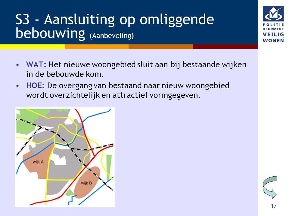 S3 - Aansluiting op omliggende bebouwing (Aanbeveling)