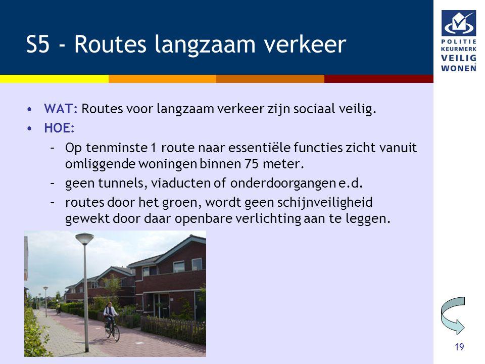 S5 - Routes langzaam verkeer
