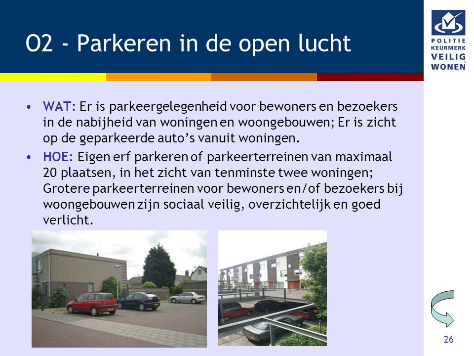 O2 - Parkeren in de open lucht