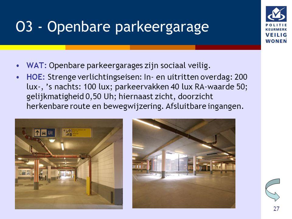 O3 - Openbare parkeergarage