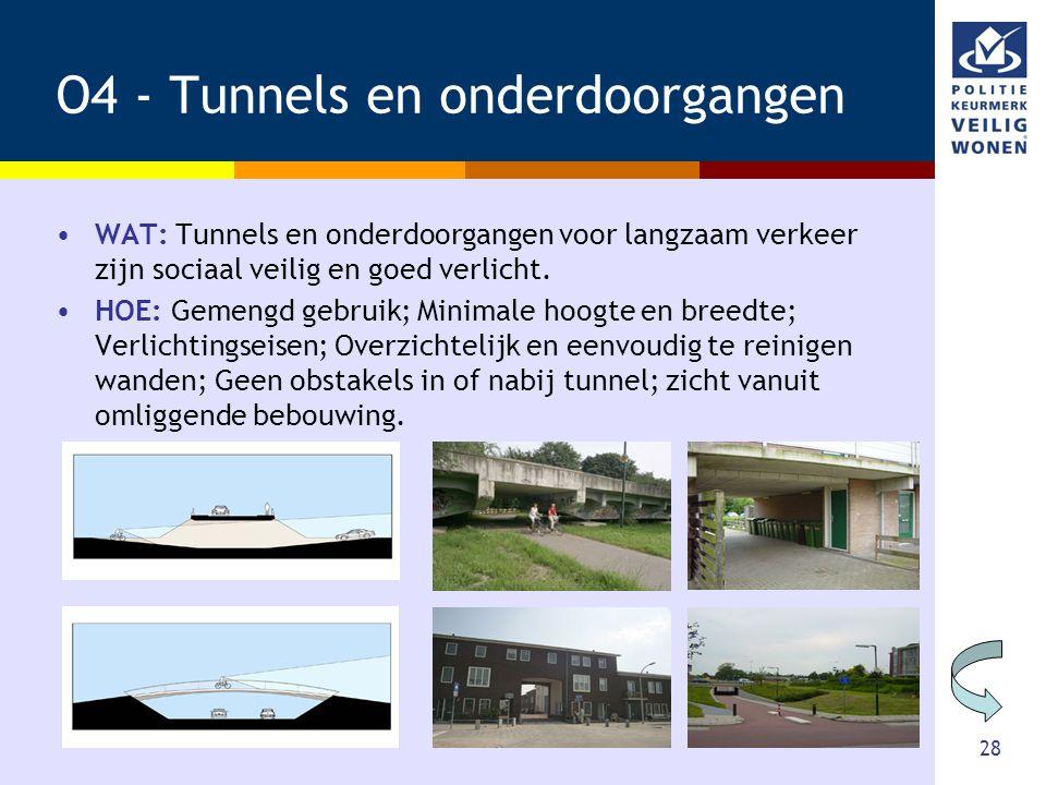 O4 - Tunnels en onderdoorgangen