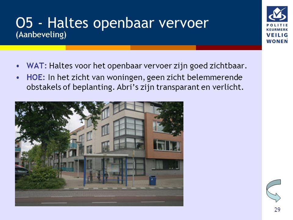 O5 - Haltes openbaar vervoer (Aanbeveling)
