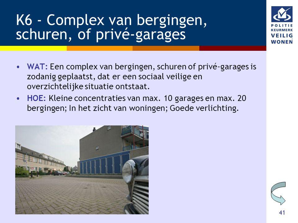 K6 - Complex van bergingen, schuren, of privé-garages