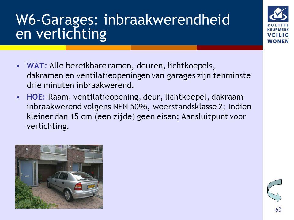 W6-Garages: inbraakwerendheid en verlichting