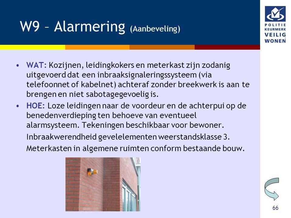 W9 – Alarmering (Aanbeveling)