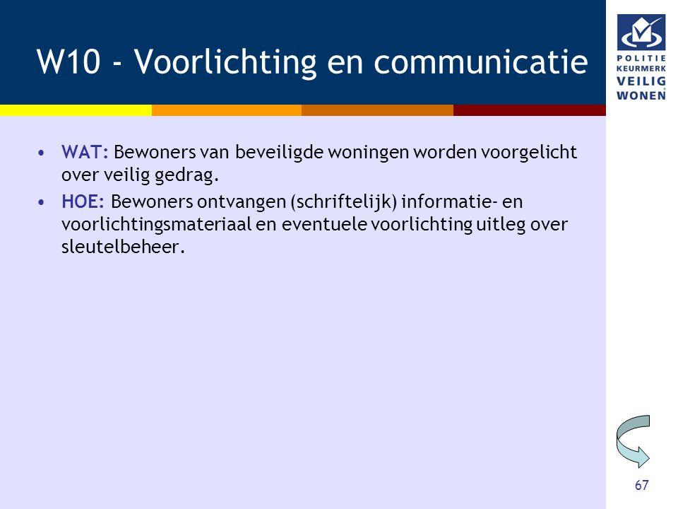 W10 - Voorlichting en communicatie