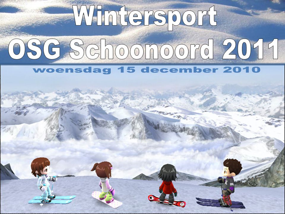 Wintersport OSG Schoonoord 2011 woensdag 15 december 2010