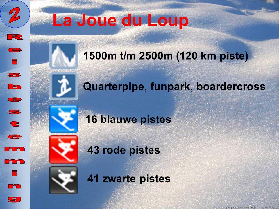 La Joue du Loup 2 Reisbestemming 1500m t/m 2500m (120 km piste)