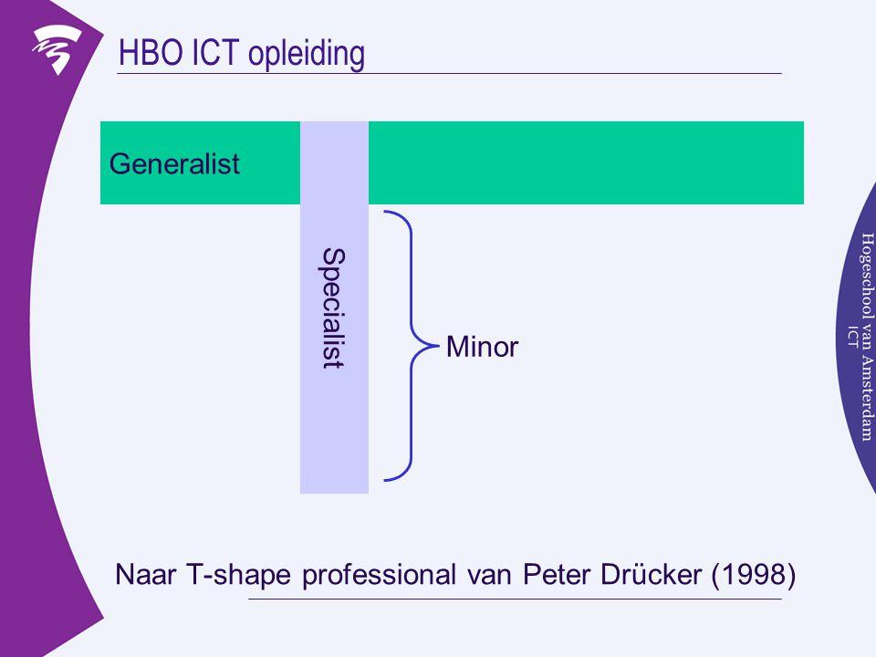 HBO ICT opleiding Generalist Specialist Minor