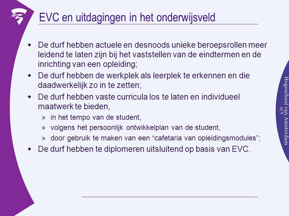 EVC en uitdagingen in het onderwijsveld
