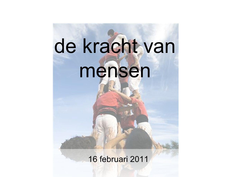 de kracht van mensen 16 februari 2011