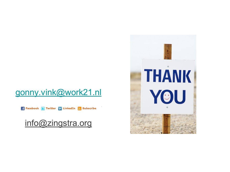 gonny.vink@work21.nl info@zingstra.org