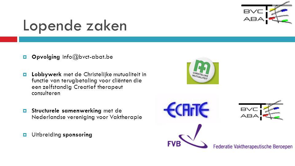 Lopende zaken Opvolging info@bvct-abat.be