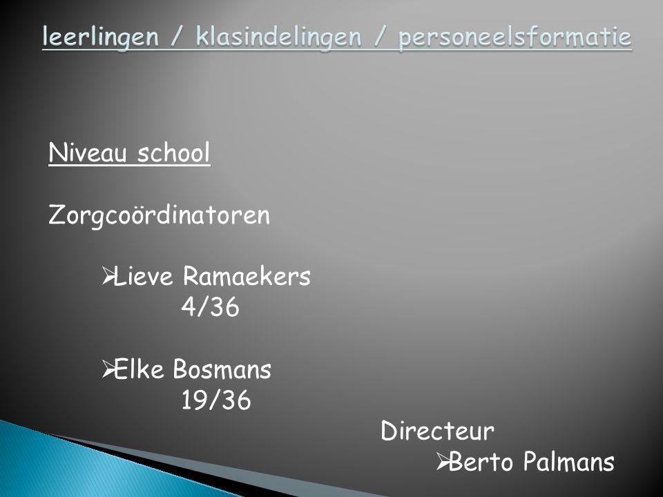 leerlingen / klasindelingen / personeelsformatie