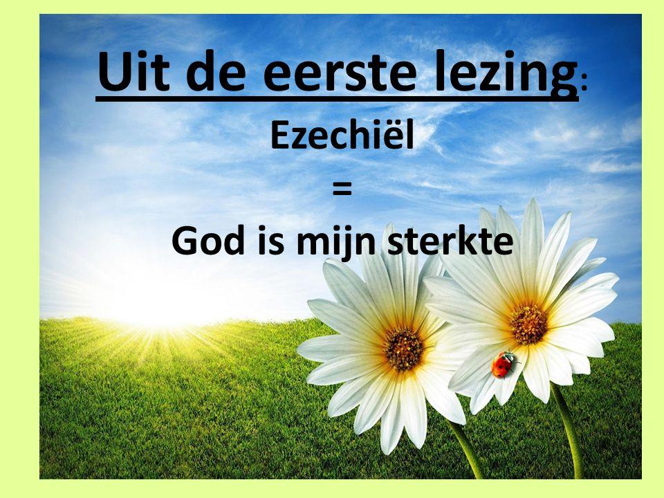 Uit de eerste lezing: Ezechiël = God is mijn sterkte