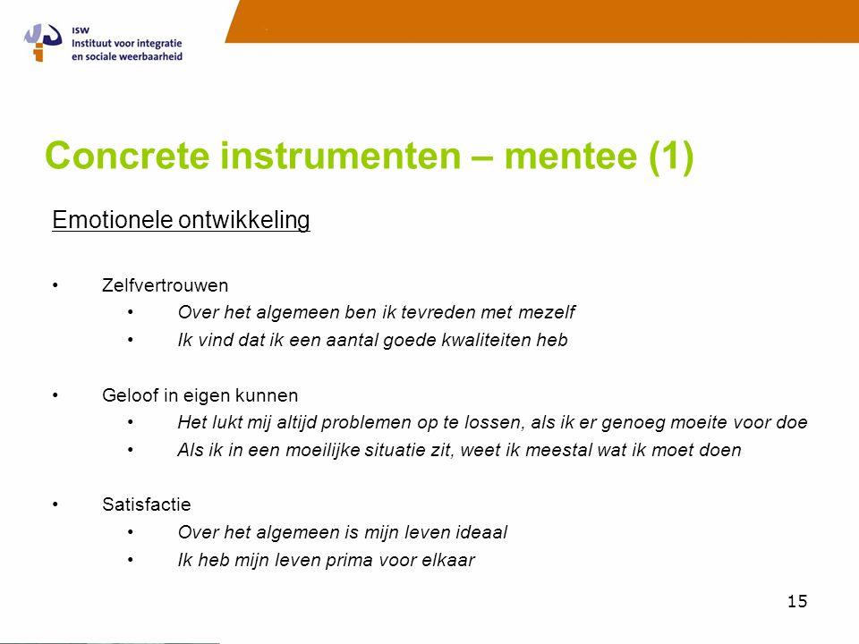 Concrete instrumenten – mentee (1)
