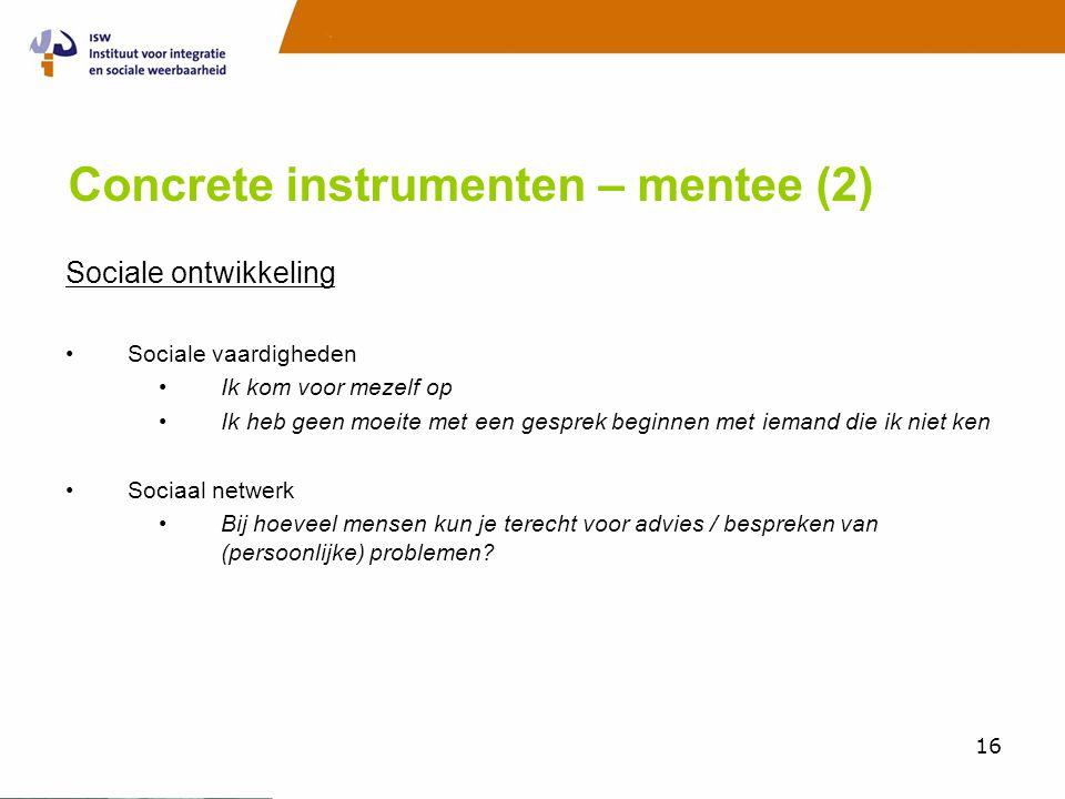 Concrete instrumenten – mentee (2)