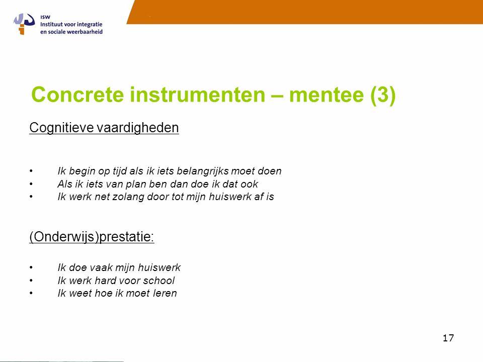 Concrete instrumenten – mentee (3)