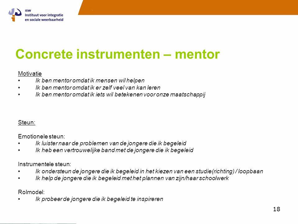 Concrete instrumenten – mentor