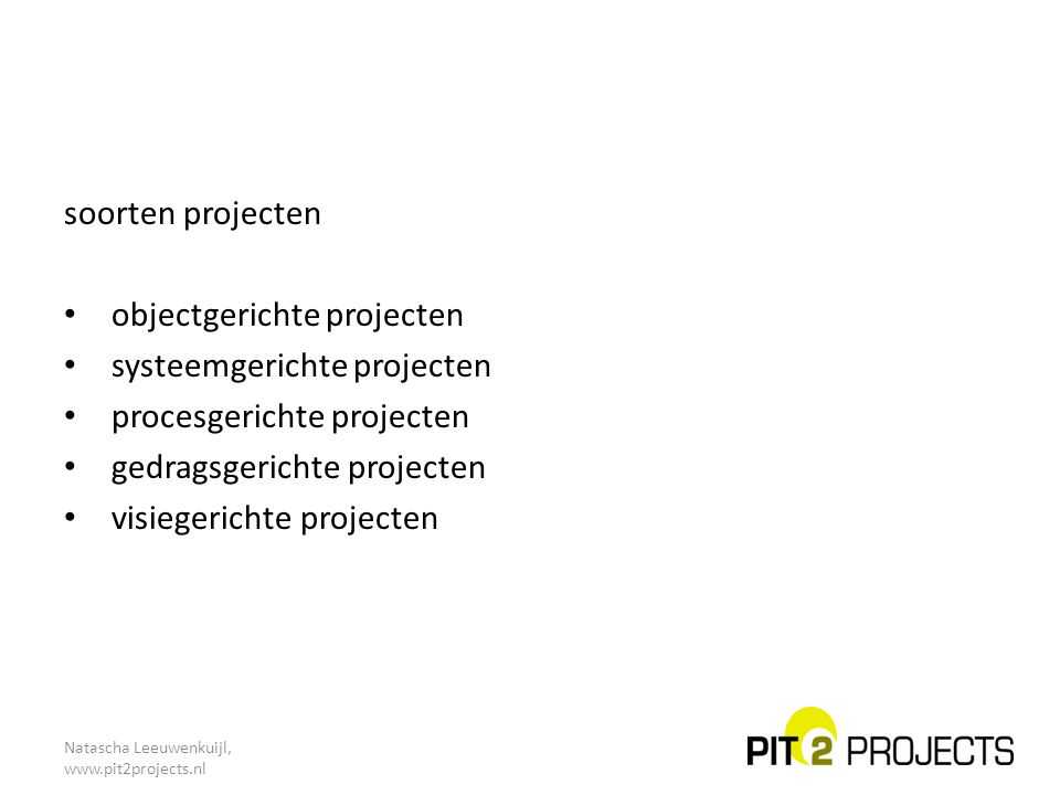 objectgerichte projecten systeemgerichte projecten