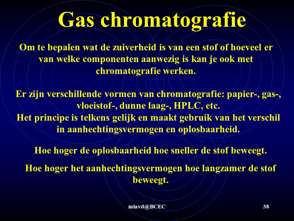 Gas chromatografie