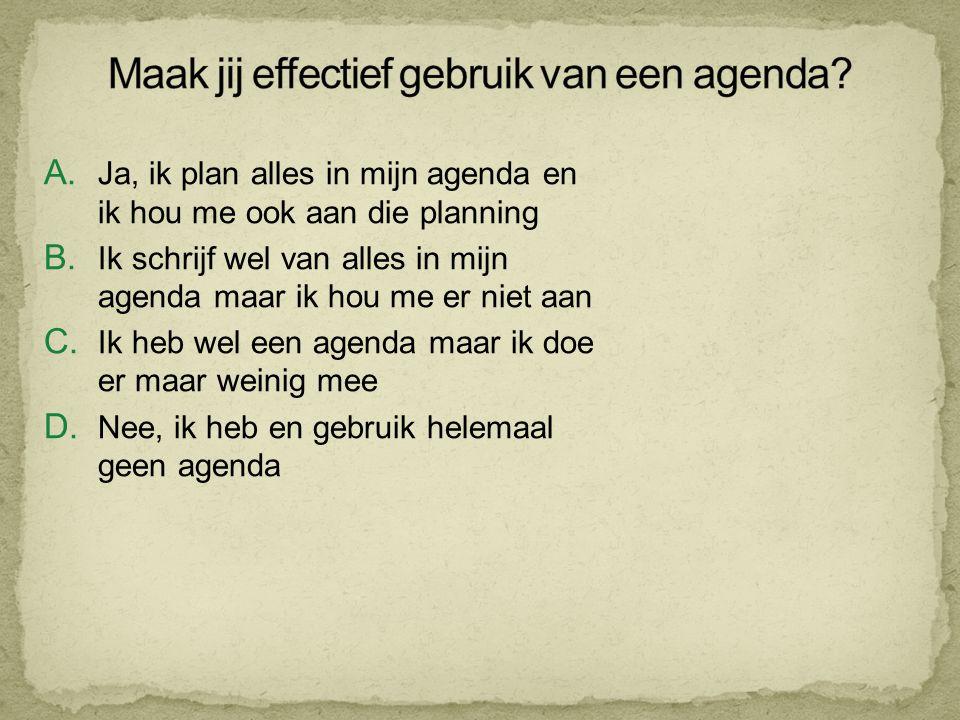 Maak jij effectief gebruik van een agenda