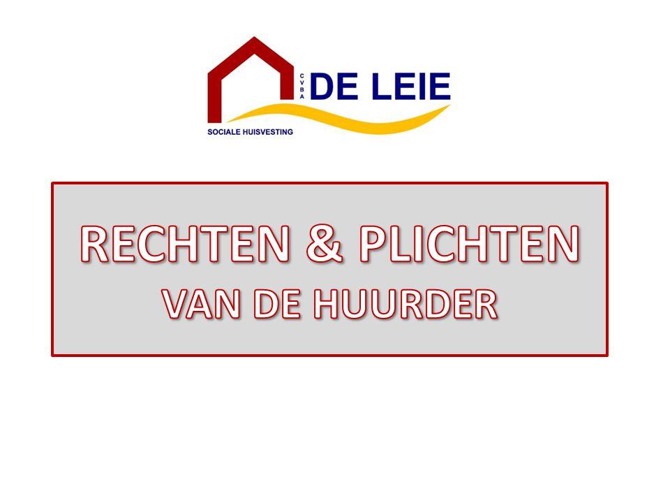 RECHTEN & PLICHTEN VAN DE HUURDER