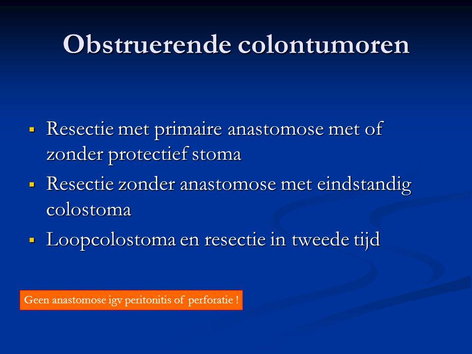 Obstruerende colontumoren