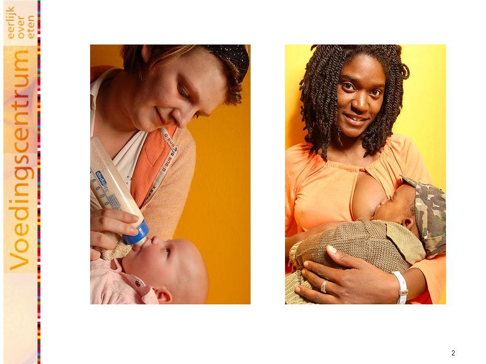 De eerste zes maanden is het relatief simpel: kinderen hebben in principe genoeg aan alleen borst- en/of kunstvoeding. Borstvoeding heeft daarbij de voorkeur vanwege de gezondheidseffecten, zoals bescherming tegen tal van aandoeningen w.o. overgewicht (kinderen hebben zelf de regie). In geval van geen borstvoeding is kunstvoeding het alternatief.