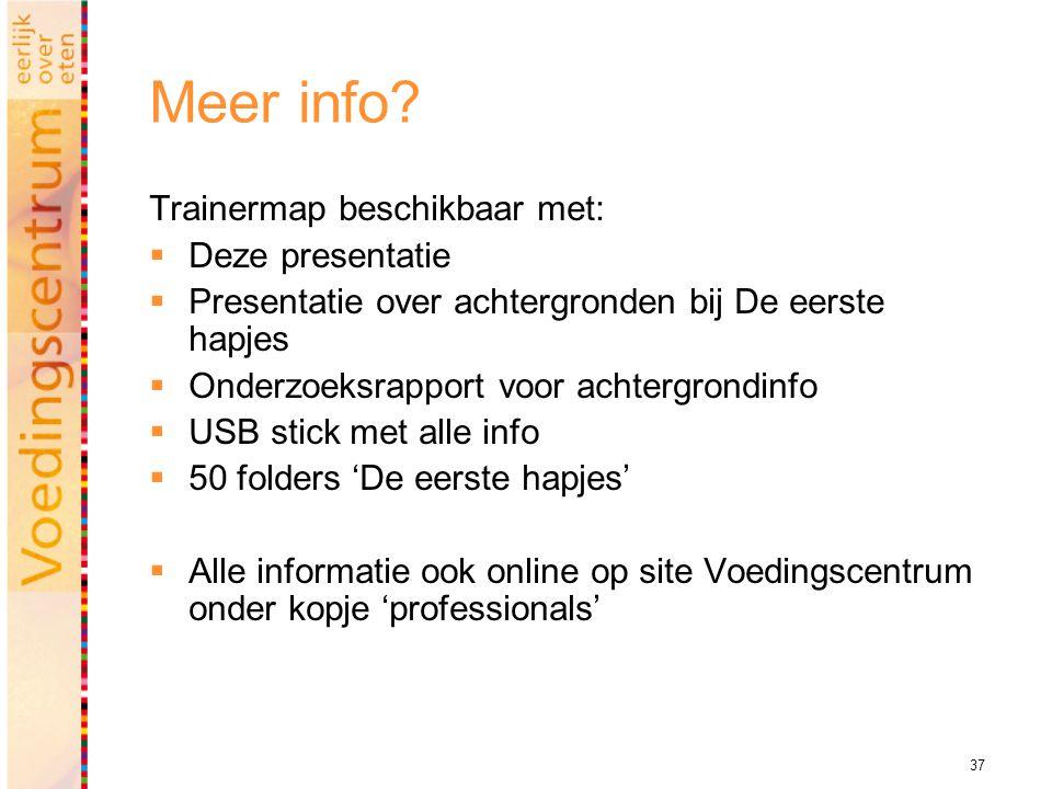 Meer info Trainermap beschikbaar met: Deze presentatie
