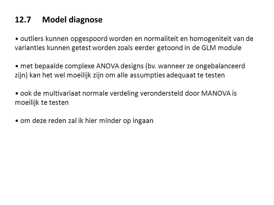 12.7 Model diagnose