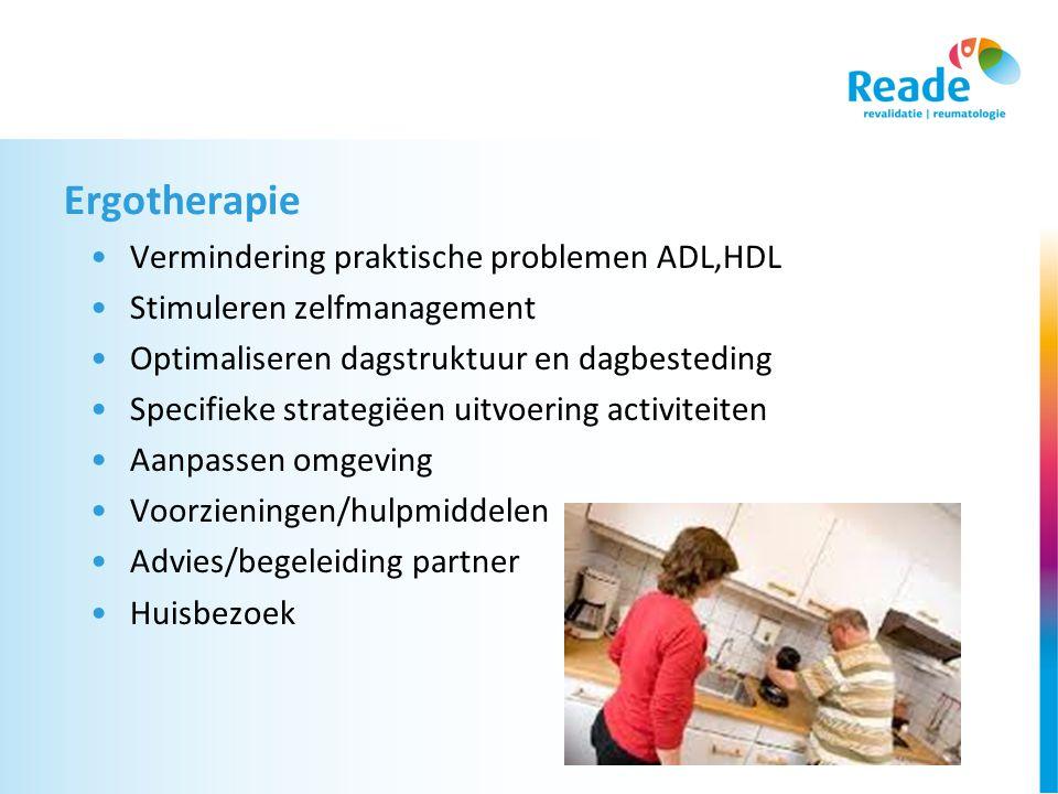 Ergotherapie Vermindering praktische problemen ADL,HDL