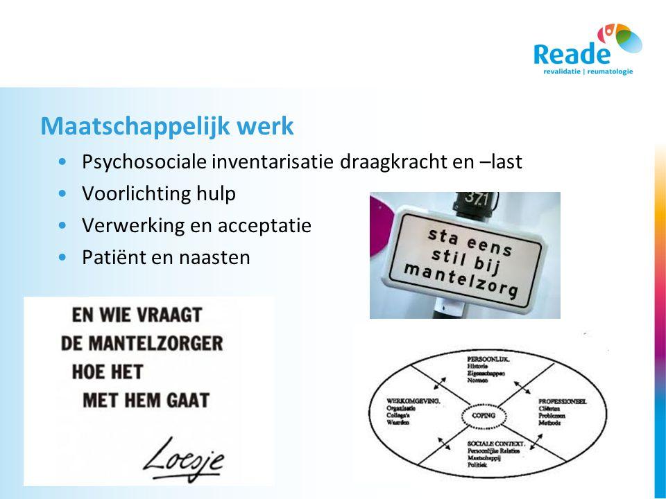 Maatschappelijk werk Psychosociale inventarisatie draagkracht en –last