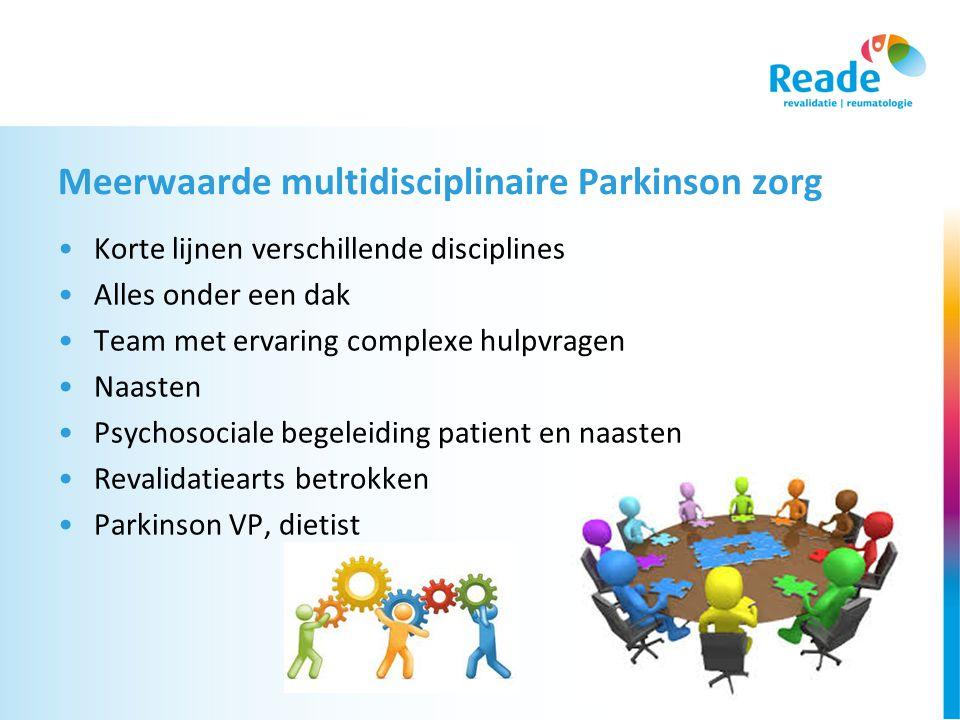Meerwaarde multidisciplinaire Parkinson zorg