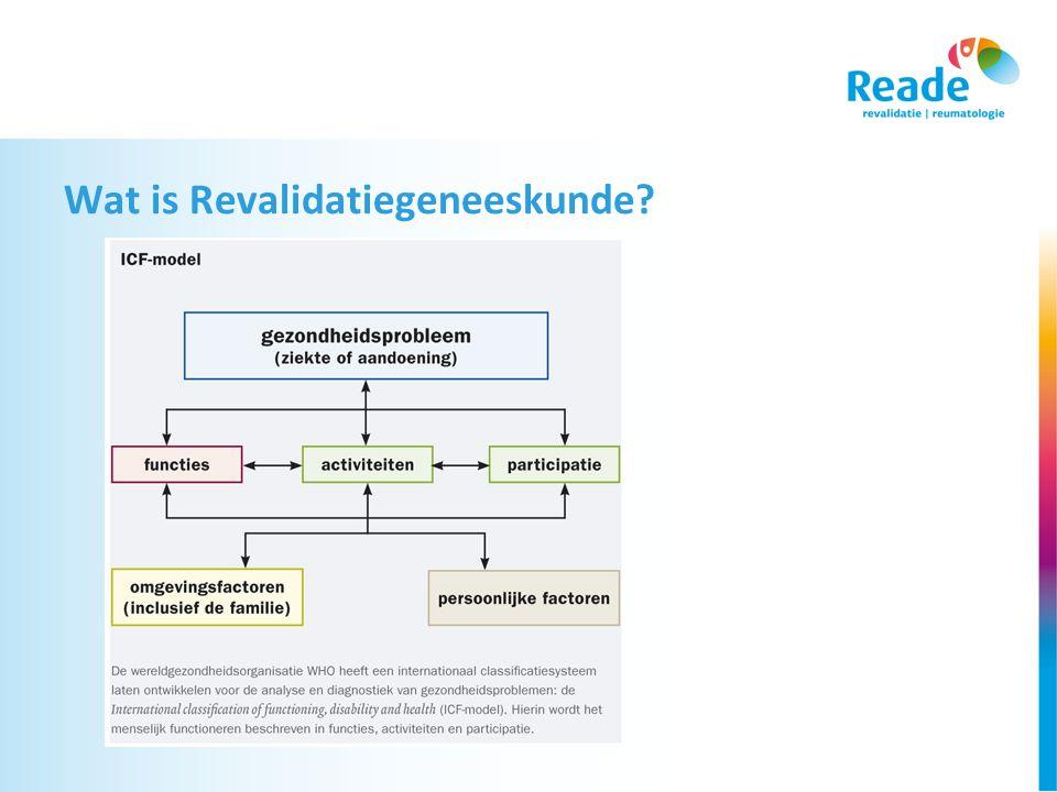 Wat is Revalidatiegeneeskunde