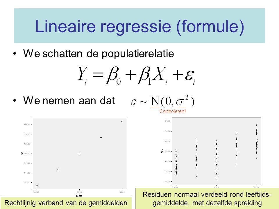 Lineaire regressie (formule)
