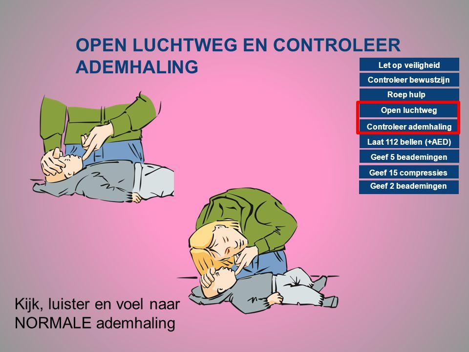 OPEN LUCHTWEG EN CONTROLEER ADEMHALING