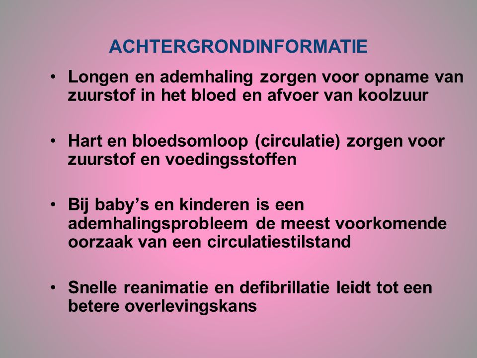 ACHTERGRONDINFORMATIE