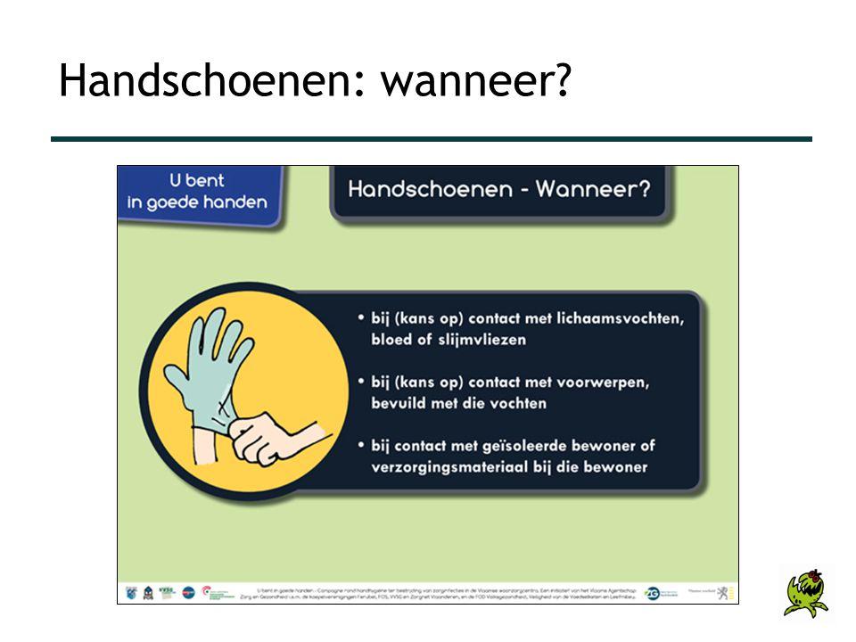 Handschoenen: wanneer