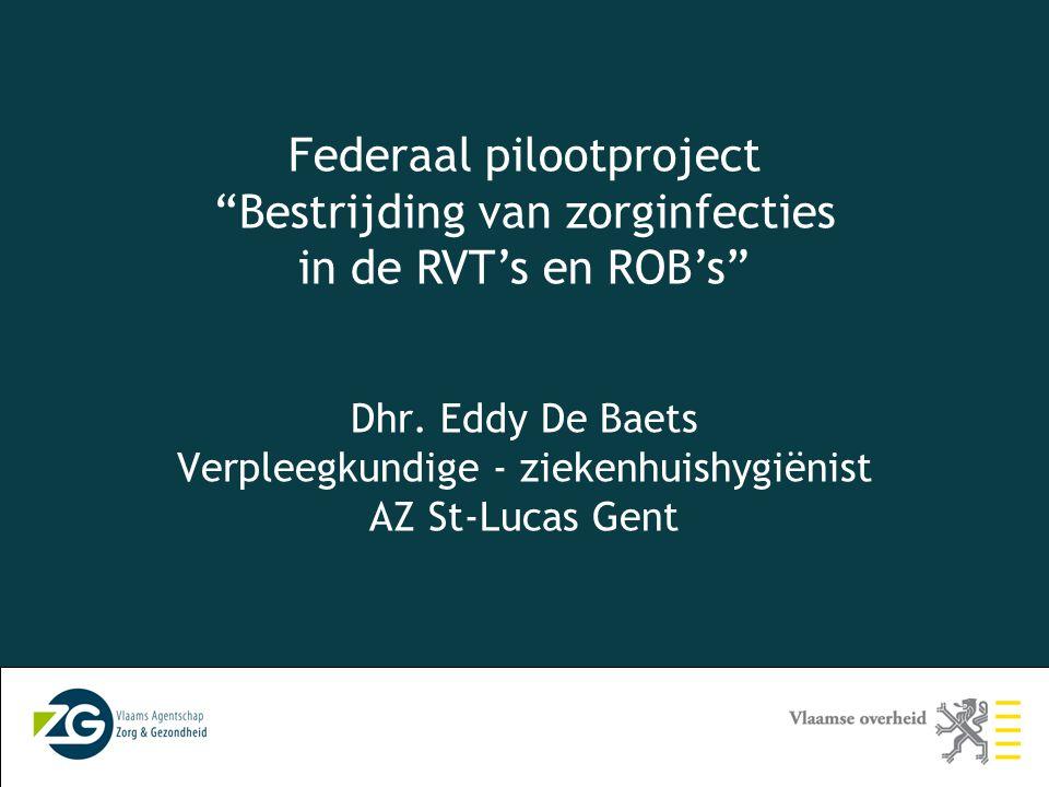 Federaal pilootproject Bestrijding van zorginfecties