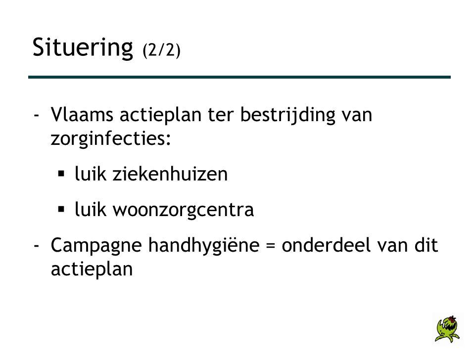 Situering (2/2) Vlaams actieplan ter bestrijding van zorginfecties: