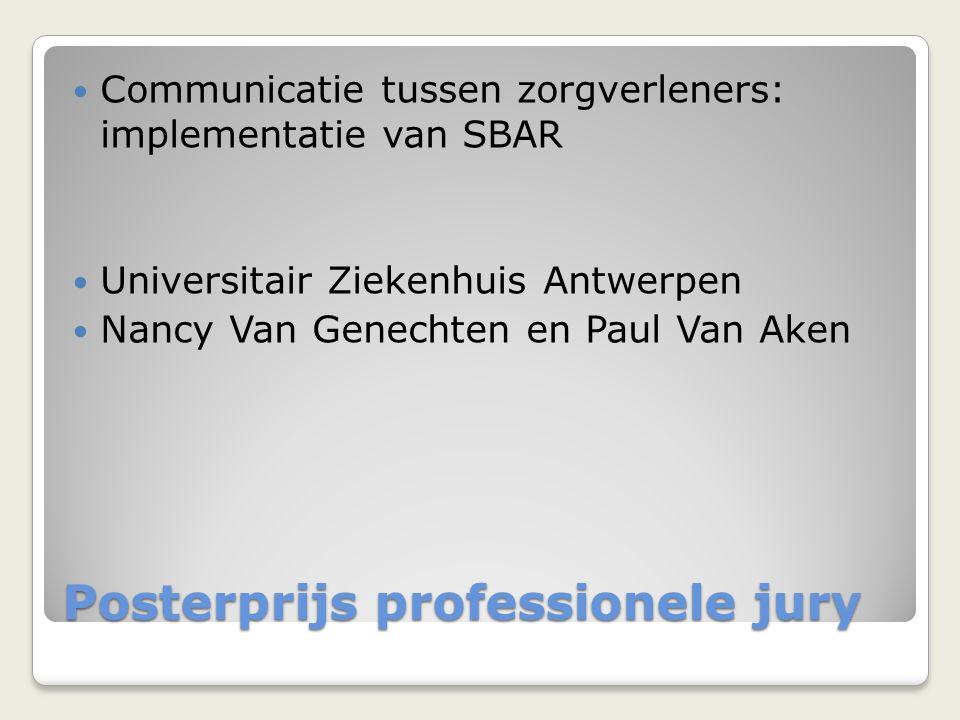 Posterprijs professionele jury
